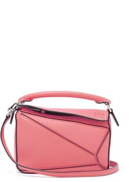 Loewe Puzzle Mini Grained Leather Cross Body Bag - Womens - Pink