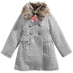Jessica Simpson Tweed Coat with Faux-Fur Trim, Toddler Girls (2T-5T)