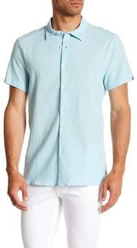 Kenneth Cole New York Seersucker Short Sleeve Regular Fit Shirt