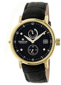 Heritor Leopold Mens Black Strap Watch-Herhr4706