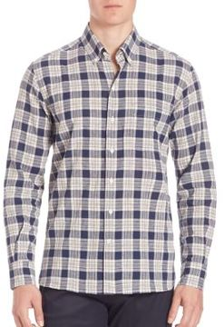 Ovadia & Sons Cotton-Blend Plaid Shirt