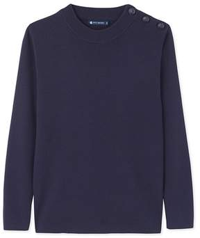 Petit Bateau Mens plain cotton sailor sweater