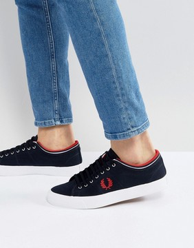 Fred Perry Kendrick Tipped Cuff Canvas Sneakers Navy
