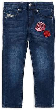 Diesel Little Girl's Embroidered Jeans
