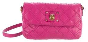 Marc Jacobs Quilted Leather Wallet On Chain - PINK - STYLE