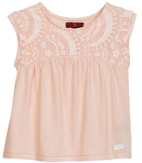 7 For All Mankind Lace Top (Little Girls)