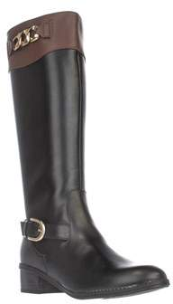 Karen Scott Ks35 Darlaa Knee-high Boots, Black/cognac.