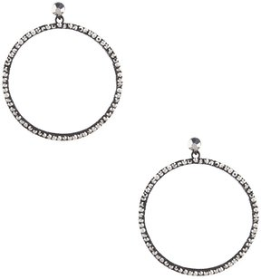 Anna & Ava Hematite Hoop Earrings