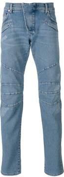 Pierre Balmain seaming details slim-fit jeans