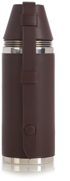 Dunhill Hunter's leather and stainless-steel hip flask