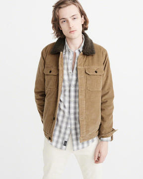 Abercrombie & Fitch Sherpa-Lined Corduroy Jacket