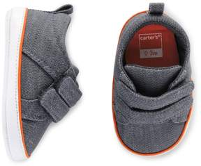 Carter's Baby Boy Denim Sneaker Crib Shoes