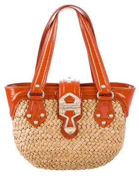 MICHAEL Michael Kors Leather-Trimmed Straw Tote - NEUTRALS - STYLE