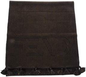 Fendi Multicolour Stripy Wool Scarf