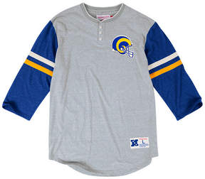 Mitchell & Ness Men's Los Angeles Rams Home Stretch Henley 2.0 Longsleeve T-Shirt