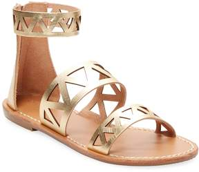 Soludos Women's Cut-Out Metallic Strap Sandals