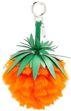Fendi Pineapple leather and fur bag charm