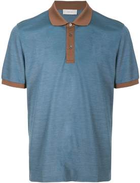 Cerruti contrast detail polo shirt