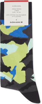 Bjorn Borg Camouflage cotton-blend socks