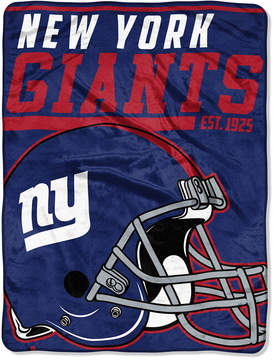 Northwest Company New York Giants Micro Raschel 46x60 40 Yard Dash Blanket