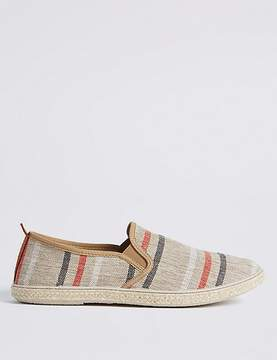 Marks and Spencer Canvas Striped Espadrille Slip-on Shoes