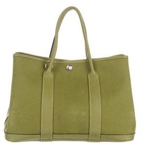 Hermes Toile Buffalo Garden Party PM w/ Strap - GREEN - STYLE