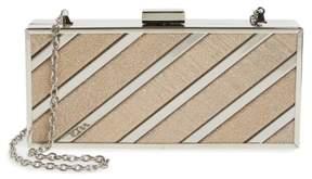 Menbur Glitter Box Clutch - Beige