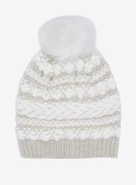 Dorothy Perkins Cream Winter Stitch Beanie Hat