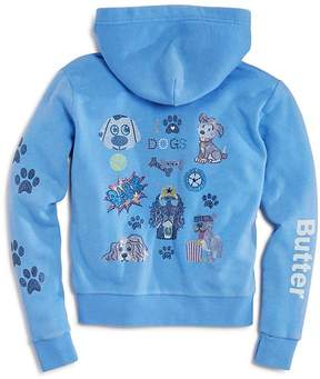 Butter Shoes Girls' I Love Dogs Zip-Up Hoodie - Little Kid