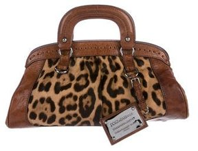 Dolce & Gabbana Leather-Trimmed Ponyhair Bag - ANIMAL PRINT - STYLE