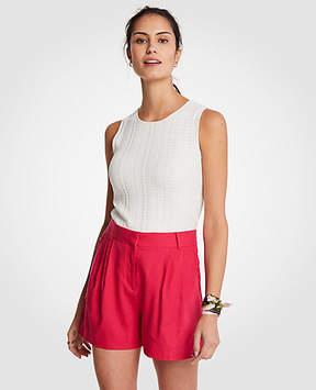 Ann Taylor Ruffle Pocket Pleated Shorts