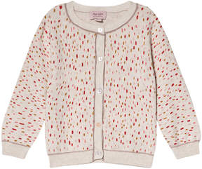 Mini A Ture Noa Noa Miniature White Speckle Long Sleeve Cardigan