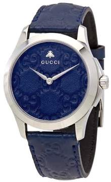 Gucci G-Timeless Blue Dial Men's Blue Leather Watch YA1264032