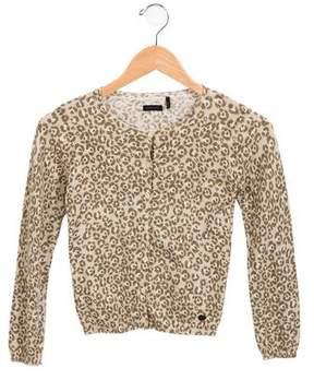 Ikks Girls' Printed Button-Up Cardigan
