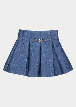 Versace Embossed circle Mini Skirt