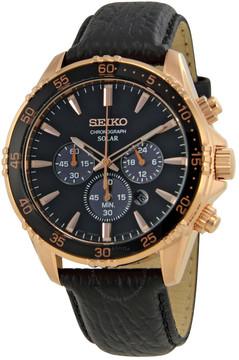 Seiko Core Chronograph Black Dial Men's Watch