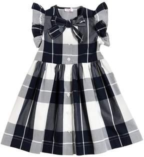 Il Gufo Plaid Printed Cotton Poplin Dress