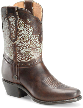 Sonora Brown & Turquoise Jamie Leather Cowboy Boot