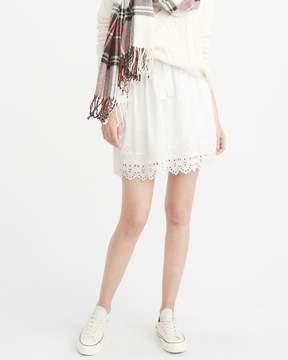 Abercrombie & Fitch Eyelet Mini Skirt