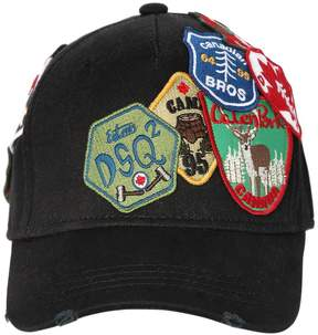 DSQUARED2 Patches Canvas Baseball Hat