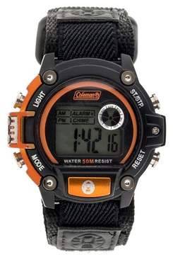 Coleman Men's Digital Sportwrap Watch - Black/Orange