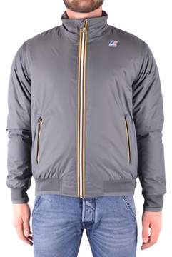 K-Way Men's Grey Polyester Outerwear Jacket.