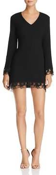 Aqua Lace-Trim Bell Sleeve Dress - 100% Exclusive