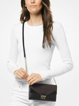 MICHAEL Michael Kors Sloan Leather and Logo Chain Wallet