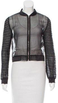 Claudie Pierlot Ruched Silk Jacket