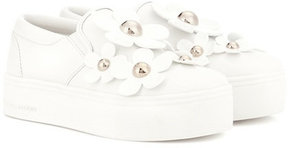 Marc Jacobs Floral-embellished leather sneakers
