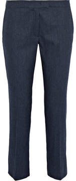 Joseph Finley Pinstriped Stretch Wool-blend Tapered Pants - Navy