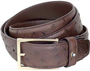 Montblanc Brown Ostrich Leather Belt