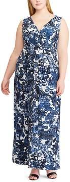 Chaps Plus Size Paisley Maxi Dress