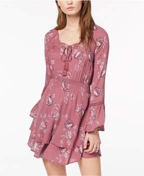 American Rag Juniors' Printed Peasant Dress, Created for Macy's